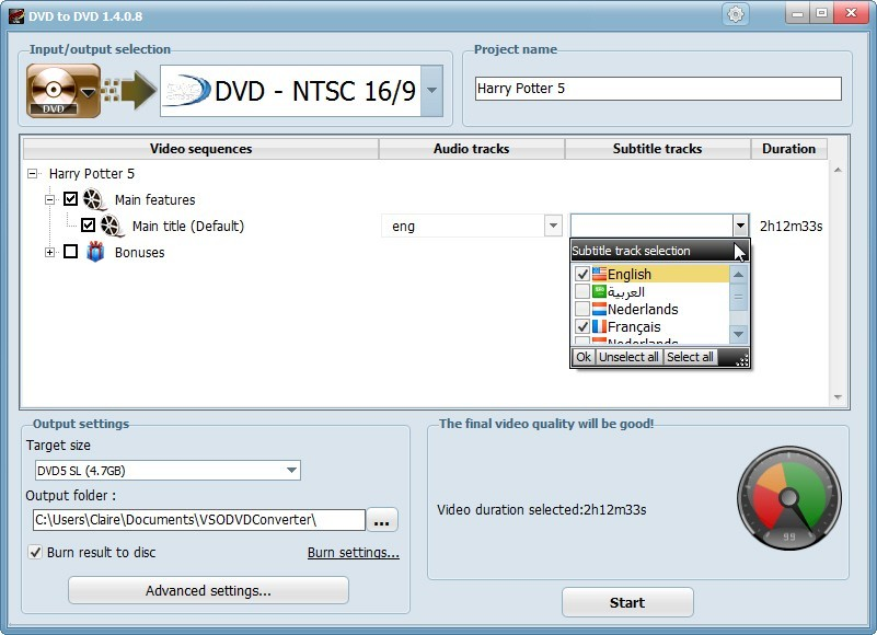 DVD to DVD