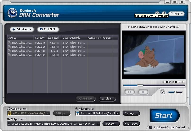 Daniusoft DRM Converter