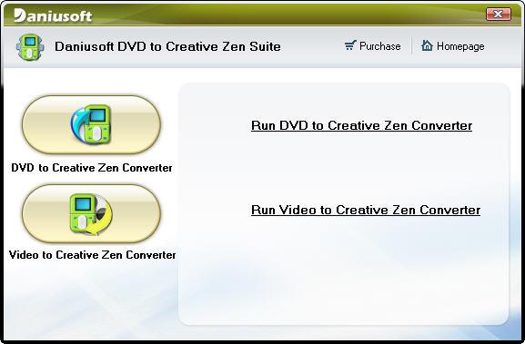 Daniusoft DVD to Creative Zen Suite