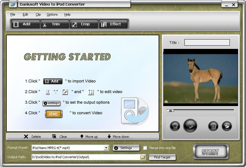 Daniusoft Video to iPod Converter