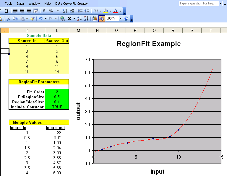 Data Curve Fit Creator Add-in