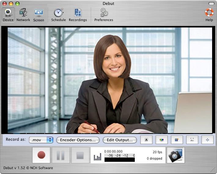 Debut Free Mac Video Recording Software