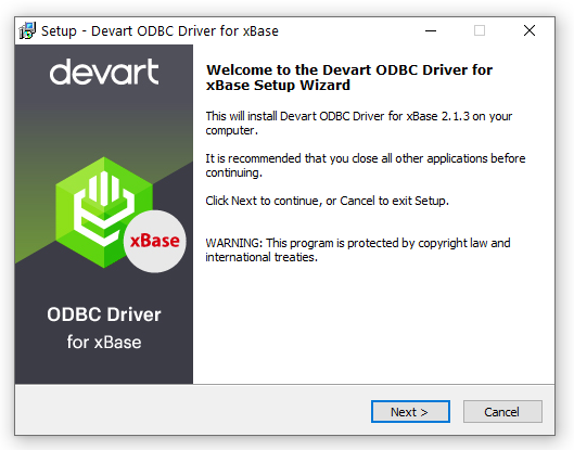 Devart ODBC Driver for xBase