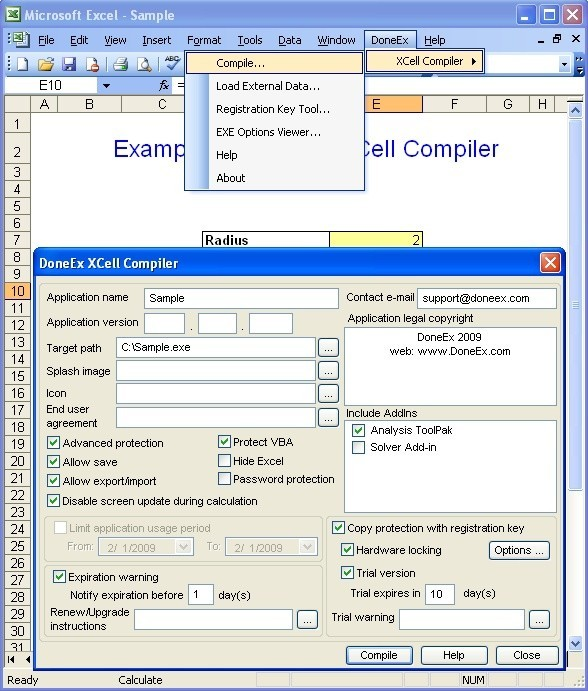 DoneEx XCell Compiler