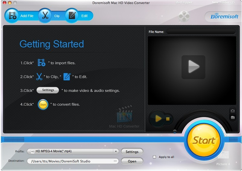 Doremisoft Mac HD Video Converter
