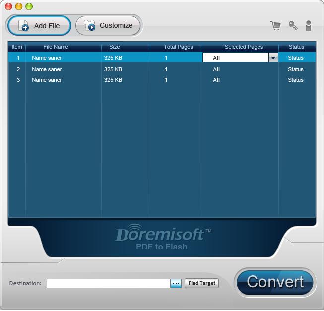 Doremisoft Mac PDF to Flash Converter