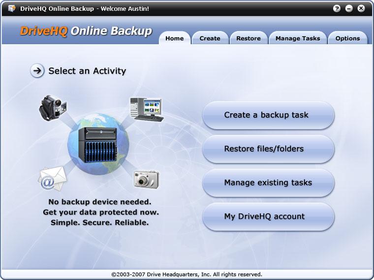DriveHQ Online Backup
