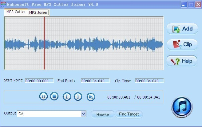 Eahoosoft Free MP3 Cutter Joiner