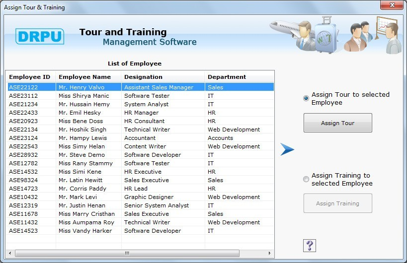 Employee Tour and Training Software