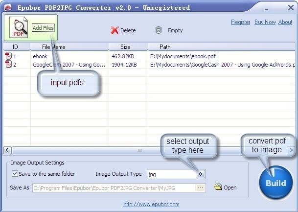 Epubor PDF2JPG Converter