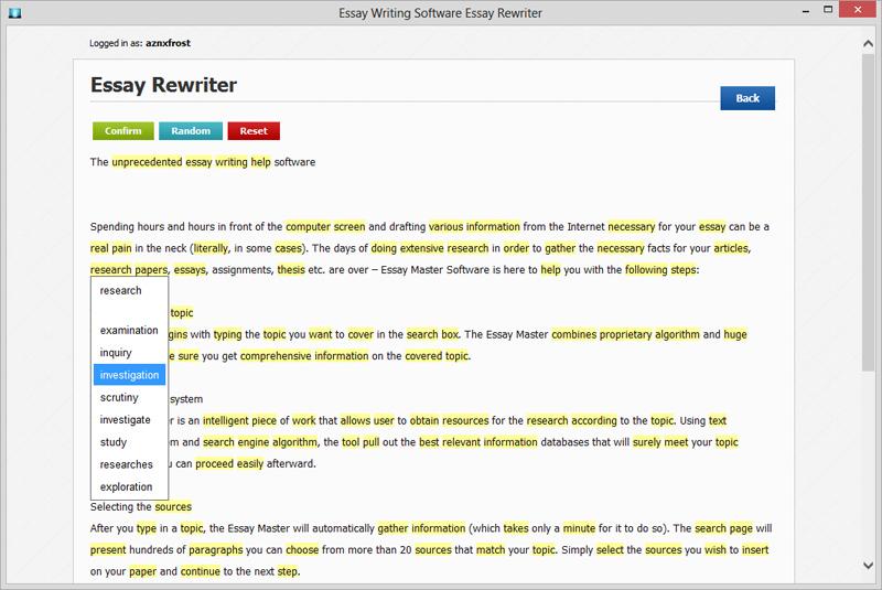 Essay Paraphrase Rewrite Tool