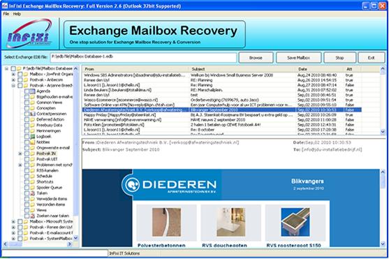 Exchange EDB to PST Recovery