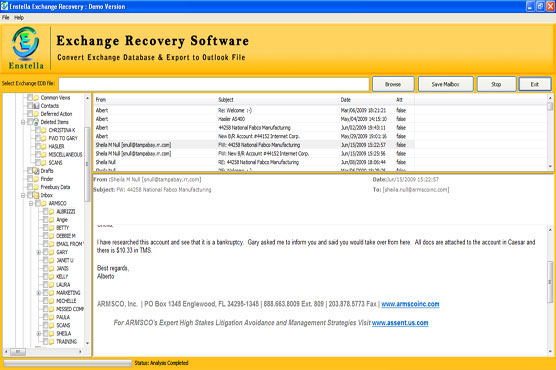 Exchange to Outlook Recovery