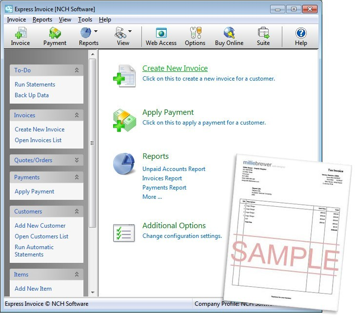 Express Invoice Free Edition