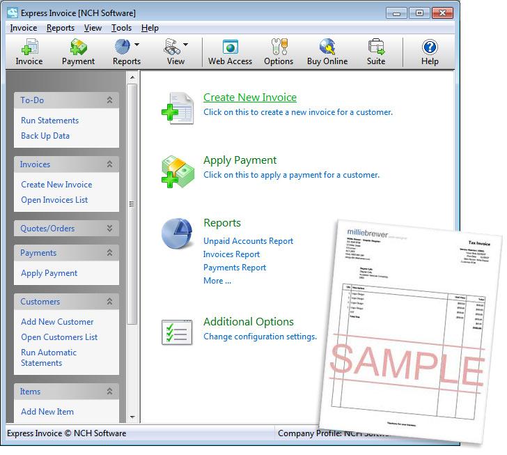 Express Invoice Plus Edition