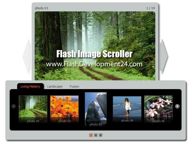 Flash Image Scroller