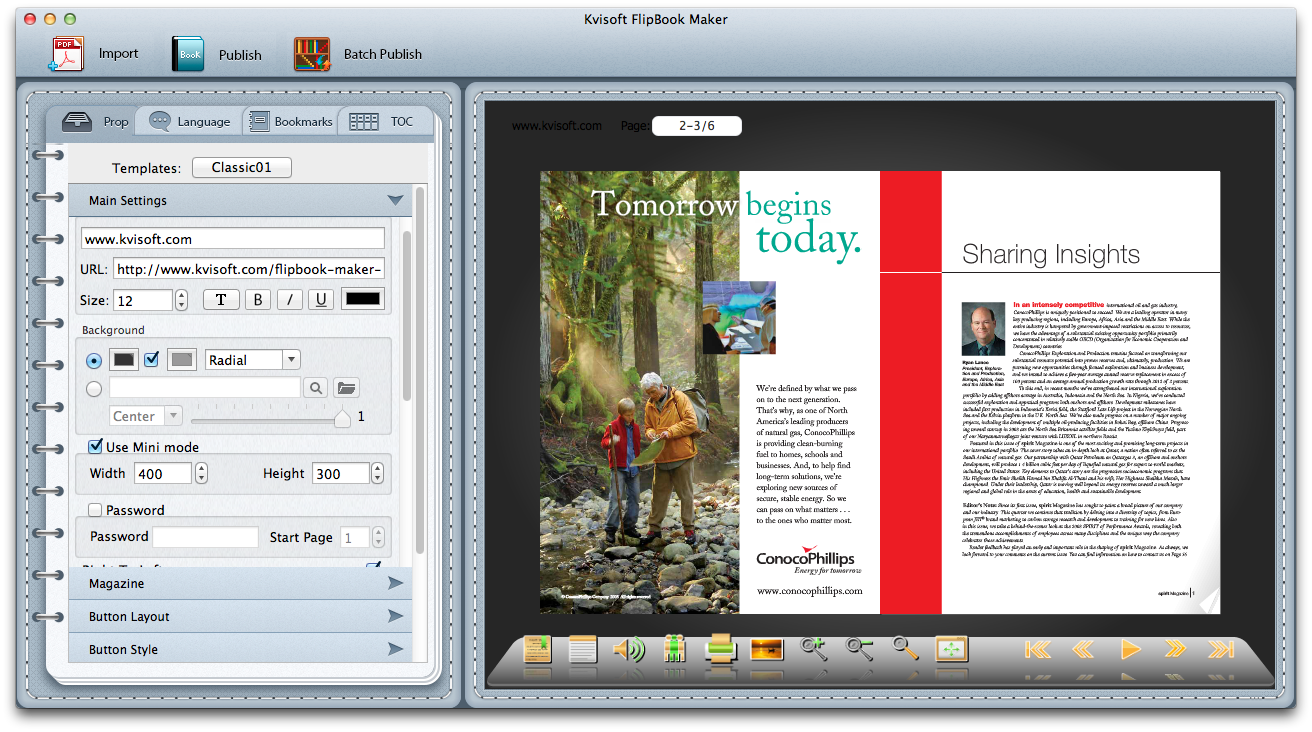 FlipBook Maker for Mac