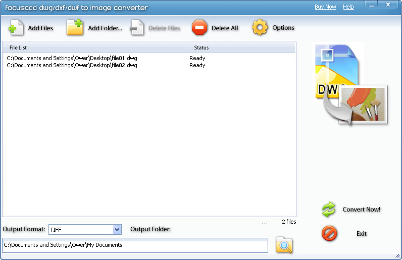 FocusCAD DWG DXF DWF to Image Converter