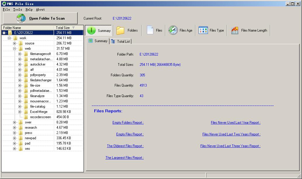 FMS File Size