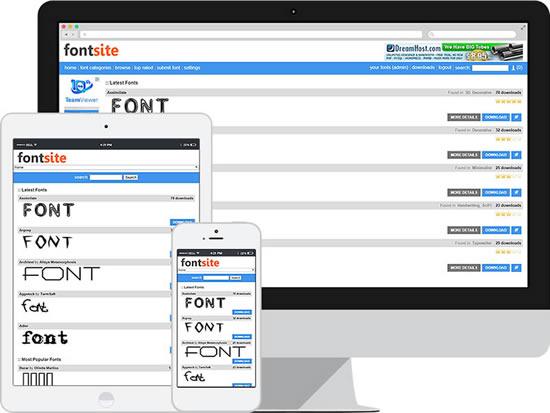 Fonts Site Script