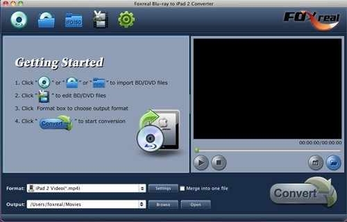 Foxreal Blu-ray to iPad 2 Converter Mac