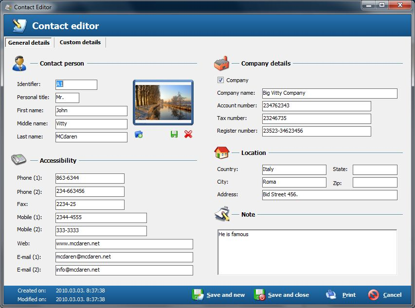 Free Address Book - Contact management
