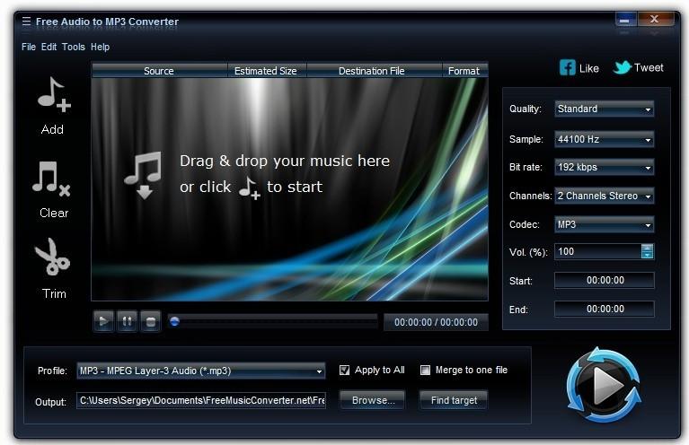 Free Audio to MP3 Converter