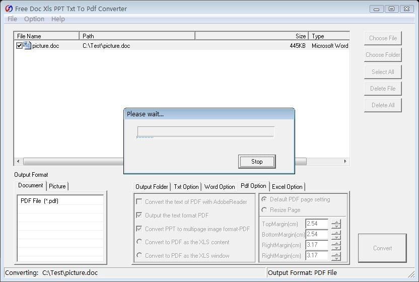 Free Doc Xls PPT Txt To Pdf Converter