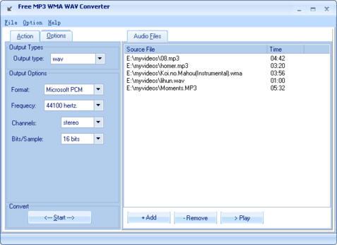 Free MP3 WMA WAV Converter