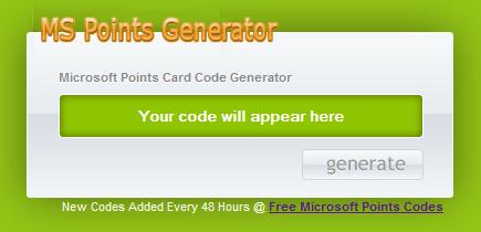 Free Microsoft Points Generator