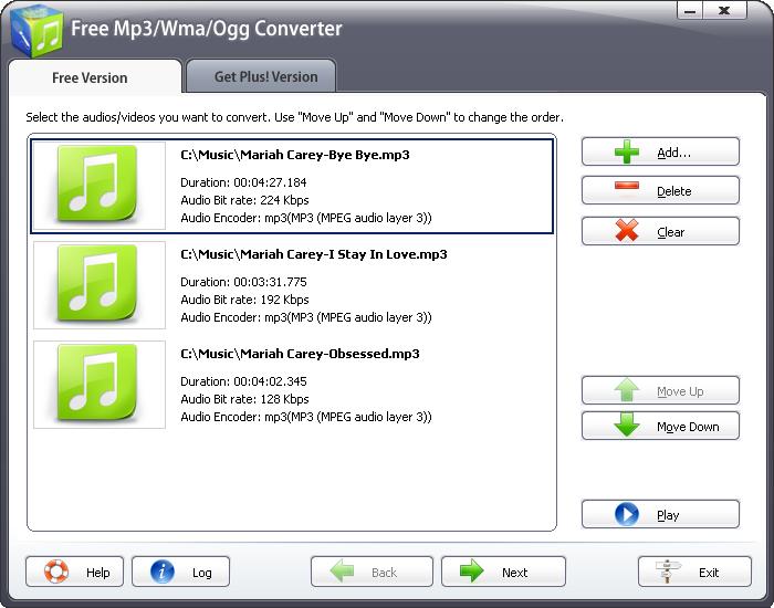 Free Mp3/Wma/Ogg Converter 2010