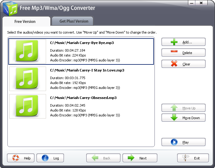 Free Mp3/Wma/Ogg Converter 2011
