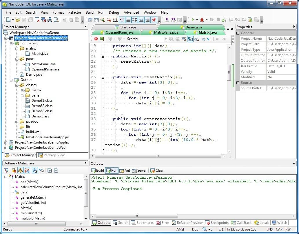 Free NaviCoder IDE for Java
