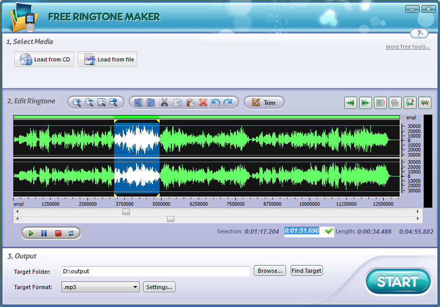 Free Ringtone Maker Platinum