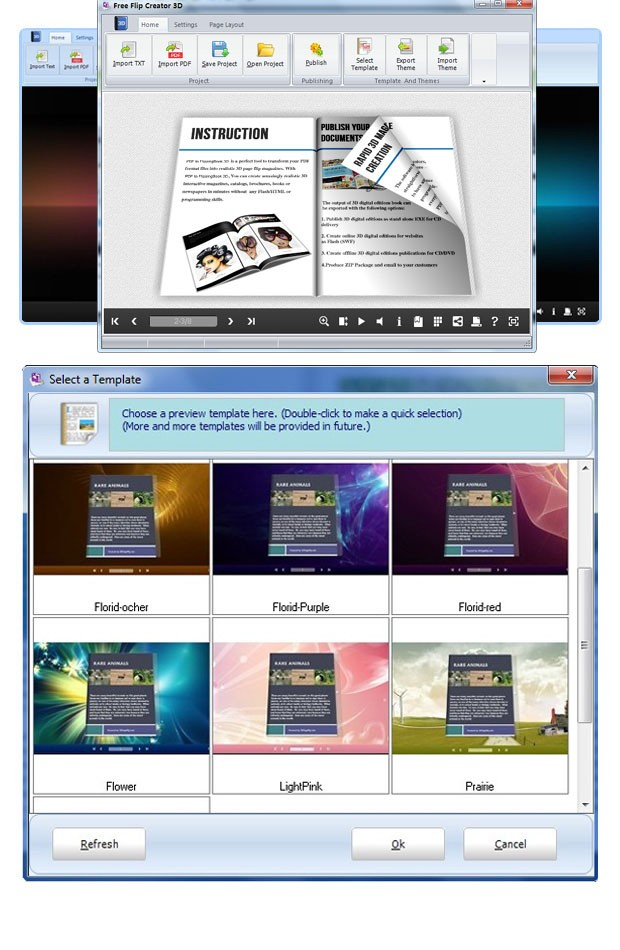 Free e-Magazine Creator 3D - freeware