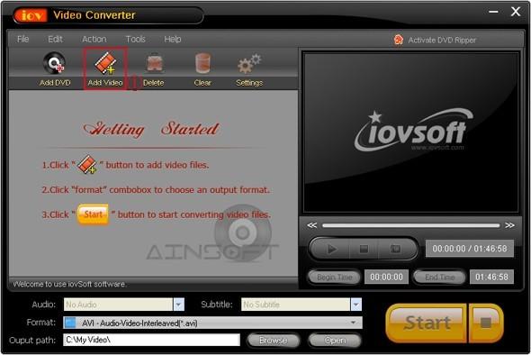 Free iovSoft Video Converter