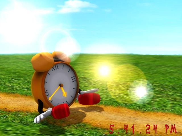 Funny Clock 3D Screensaver