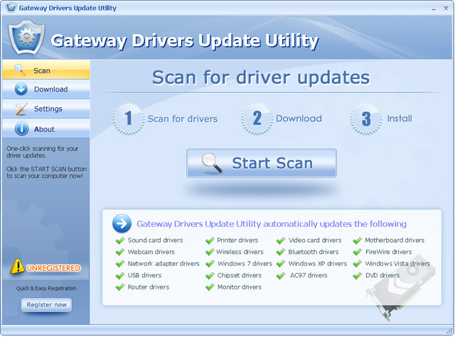 Gateway Drivers Update Utility For Windows 7