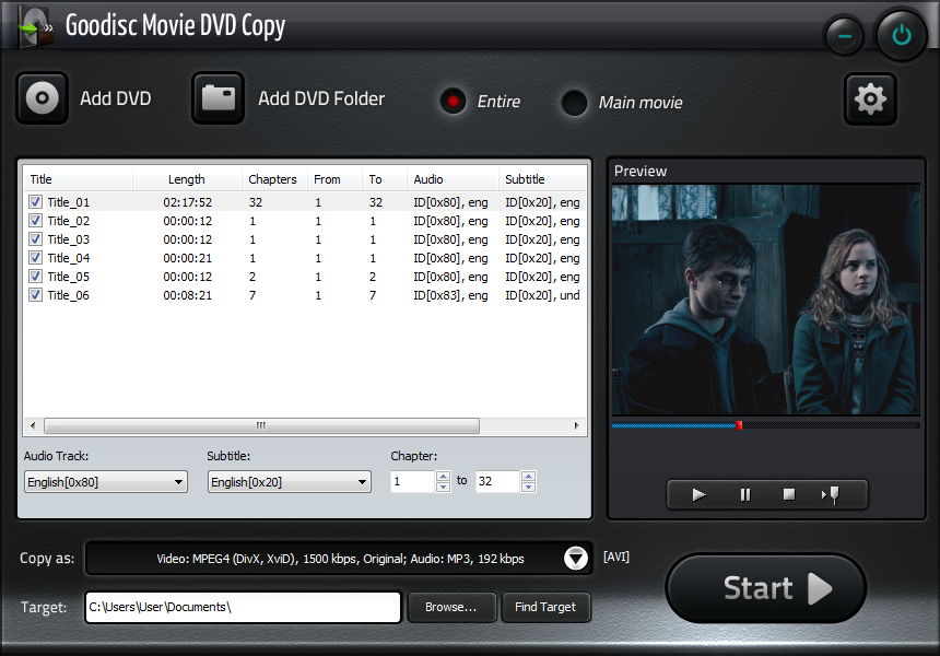Goodisc Movie DVD Copy