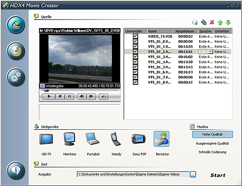 HDX4 Movie Creator
