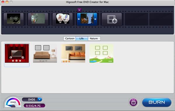 Higosoft Free DVD Creator for Mac
