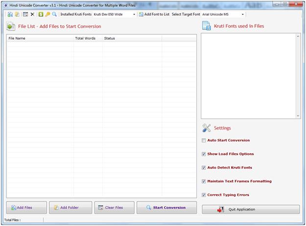 Download Hindi Unicode Converter Main Window - Window India - Hindi ...