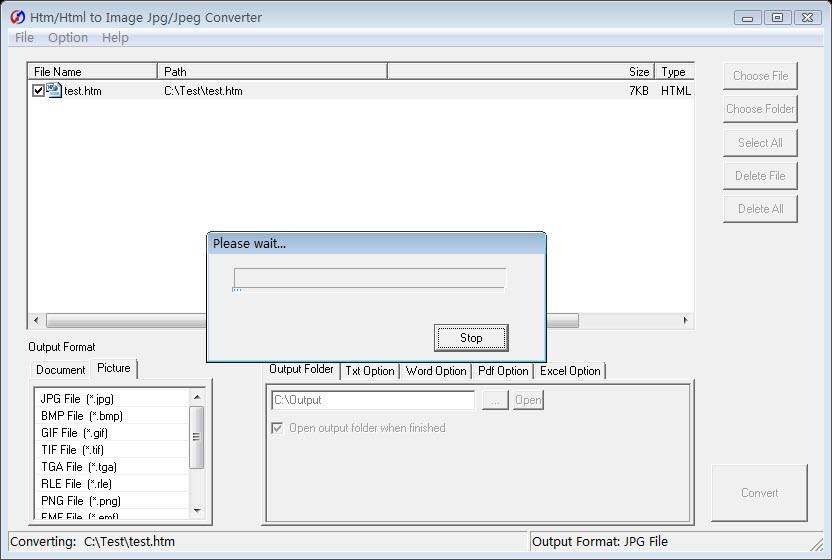 Htm/Html to Image Jpg/Jpeg Converter