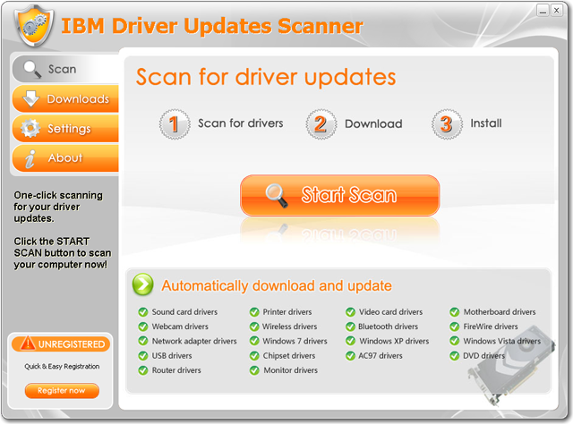 IBM Driver Updates Scanner