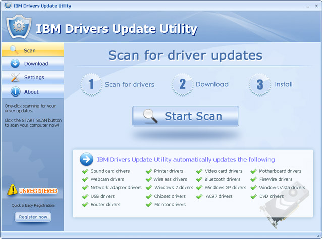 IBM Drivers Update Utility For Windows 7