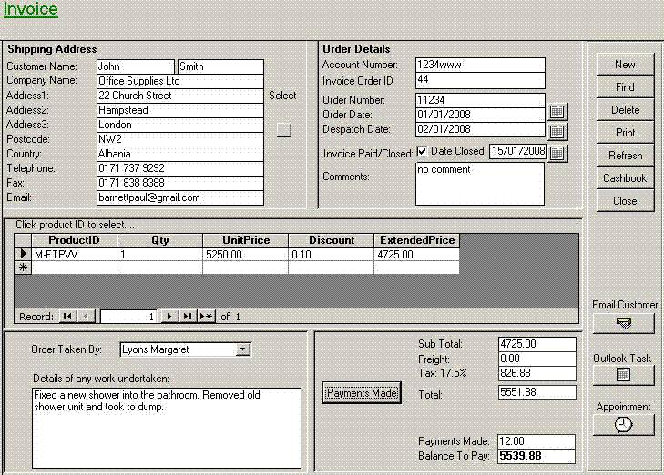 Invoicing and Quotation Billing