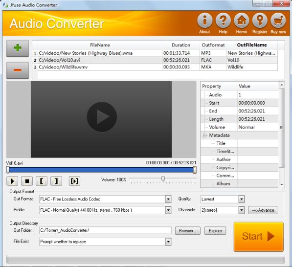Jfuse Audio Converter