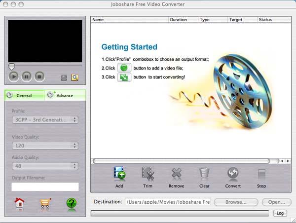 Joboshare Free Video Converter for Mac