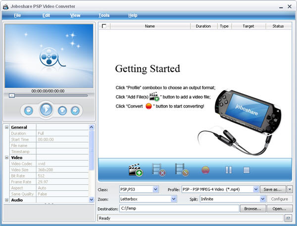Joboshare PSP Video Converter