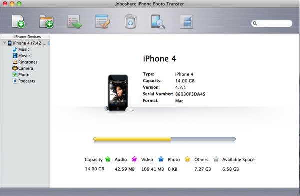 Joboshare iPhone Photo Transfer for Mac